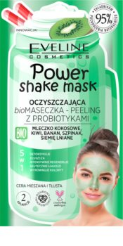 Eveline Cosmetics Power Shake Cleansing Mask and Scrub with Probiotics