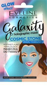 Eveline Cosmetics Galaxity Holographic rozjasňující hydratační maska pro mladou pleť