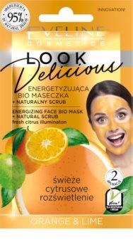 Eveline Cosmetics Look Delicious Orange & Lime masque hydratant illuminateur effet exfoliant