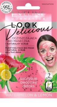 Eveline Cosmetics Look Delicious Watermelon & Lemon hydratační a rozjasňující maska na unavenou pleť