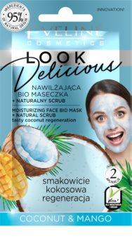 Eveline Cosmetics Look Delicious Coconut & Mango masque hydratant nourrissant intense effet exfoliant