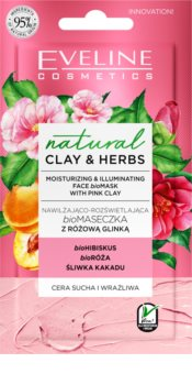 Eveline Cosmetics Natural Clay & Herbs rozjasňující hydratační maska s jílem