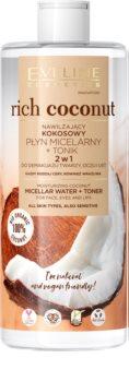 Eveline Cosmetics Rich Coconut micelární voda a tonikum 2 v 1