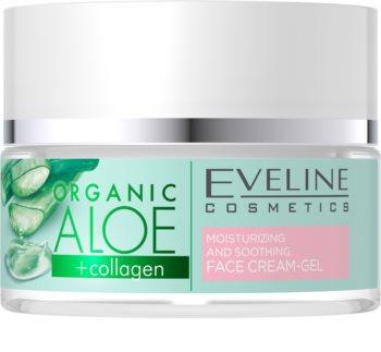 Eveline Cosmetics Organic Aloe aktivní intenzivně hydratační gel-krém se zklidňující účinkem