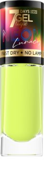 Eveline Cosmetics 7 Days Gel Laque Neon Lunacy neonfarbener Nagellack