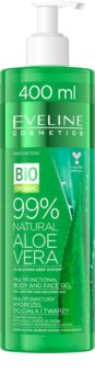 Eveline Cosmetics Bio Organic Natural Aloe Vera gel hidratante creme SOS