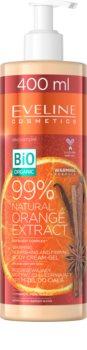 Eveline Cosmetics Bio Organic Natural Orange Extract creme corporal reafirmante e nutritivo com efeito de aquecimento