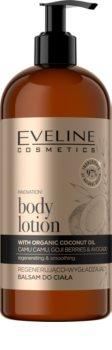 Eveline Cosmetics Organic Gold balsamo corporal regenerador com óleo de coco