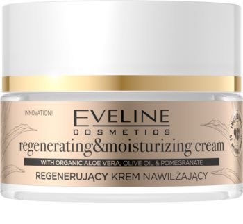 Eveline Cosmetics Organic Gold Regenerating and Moisturizing Cream With Aloe Vera