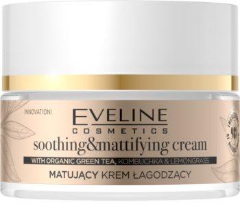 Eveline Cosmetics Organic Gold lehký zmatňující pleťový krém se zeleným čajem