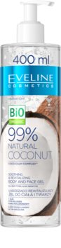 Eveline Cosmetics Bio Organic Natural Coconut zklidňující gel pro citlivou pokožku