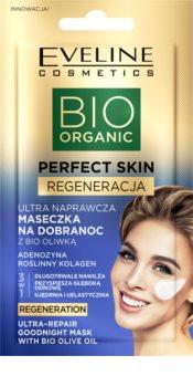 Eveline Cosmetics Perfect Skin Bio Olive Oil masque de nuit revitalisant visage à l'huile d'olive