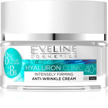 Eveline Cosmetics Hyaluron Clinic інтенсивний зміцнюючий денний та нічний крем 40+