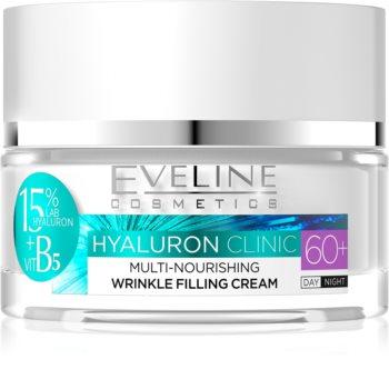 Eveline Cosmetics Hyaluron Clinic crema giorno e notte nutriente rigenerante per pelli mature