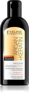 Eveline Cosmetics Argan + Keratin шампоан  8 в 1
