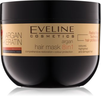 Eveline Cosmetics Argan + Keratin Maske für die Haare mit Keratin und Arganöl
