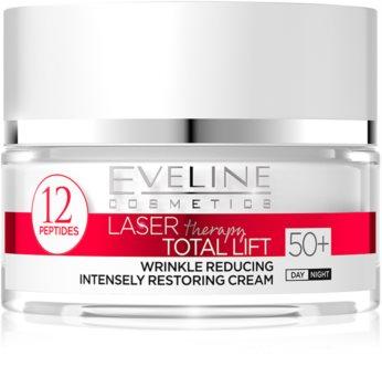 Eveline Cosmetics Laser Therapy Total Lift nappali és éjszakai ránctalanító krém 50+