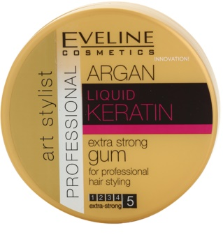 Eveline Cosmetics Argan + Keratin goma extra forte para cabelo