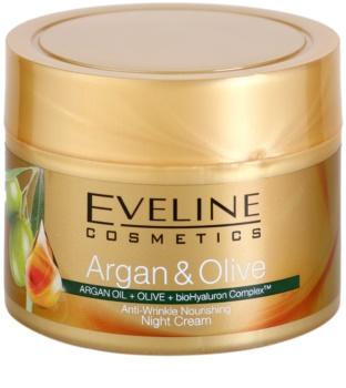 Eveline Cosmetics Argan & Olive crema de noche nutritiva  antiarrugas