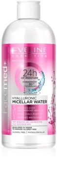 Eveline Cosmetics FaceMed+ agua micelar hialurónica 3 en 1