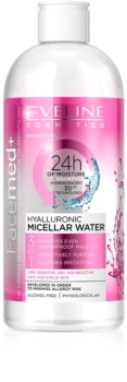 Eveline Cosmetics FaceMed+ eau micellaire à l'acide hyaluronique 3 en 1