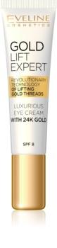 Eveline Cosmetics Gold Lift Expert luksusowy krem do oczu i powiek z 24-karatowym złotem