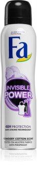 Fa Invisible Power antitranspirante em spray