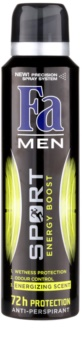 Fa Men Sport Energy Boost antitranspirante em spray