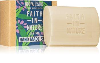 Faith In Nature Hand Made Soap Tea Tree natürliche feste Seife mit Teebaumextrakt