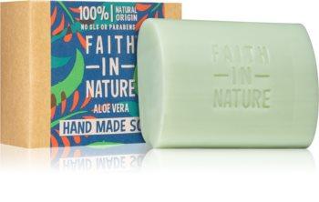 Faith In Nature Hand Made Soap Aloe Vera sabão natural em barra com aloe vera