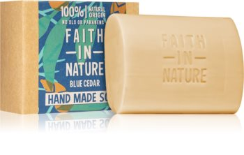 Faith In Nature Hand Made Soap Blue Cedar természetes szilárd szappan