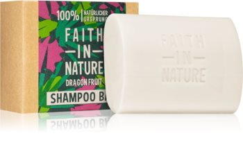 Faith In Nature Dragon Fruit organický tuhý šampon pro poškozené a barvené vlasy