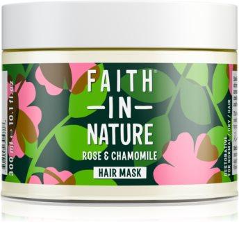 Faith In Nature Rose & Chamomile regenererende sheet mask voor Beschadigd Haar