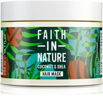 Faith In Nature Coconut & Shea hidratáló maszk száraz és sérült hajra