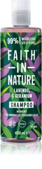 Faith In Nature Lavender & Geranium přírodní šampon pro normální až suché vlasy