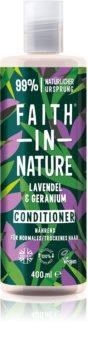 Faith In Nature Lavender & Geranium természetes kondicionáló normál és száraz hajra