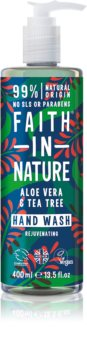 Faith In Nature Aloe Vera & Tea Tree sabonete líquido natural com extrato de chá-de-índia