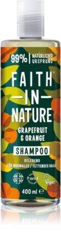 Faith In Nature Grapefruit & Orange természetes sampon normál és zsíros hajra