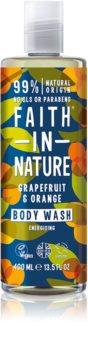 Faith In Nature Grapefruit & Orange gel douche booster d'énergie