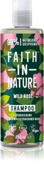 Faith In Nature Wild Rose regenerační šampon pro normální až suché vlasy