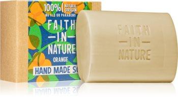 Faith In Nature Hand Made Soap Orange sabão natural em barra