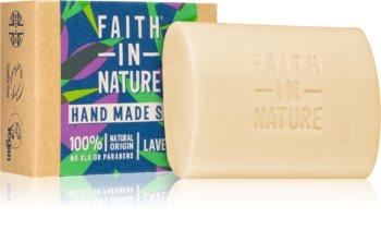 Faith In Nature Hand Made Soap Lavender sabão natural em barra com aroma de lavanda