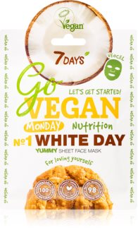 7DAYS GoVEGAN Monday WHITEDAY mascarilla nutriente en forma de hoja