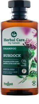 Farmona Herbal Care Burdock champú para cuero cabelludo graso y puntas secas