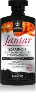 Farmona Jantar șampon cu ingrediente active de cărbune pentru par gras