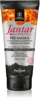 Farmona Jantar maska na vlasy s aktivním uhlím pro mastné vlasy