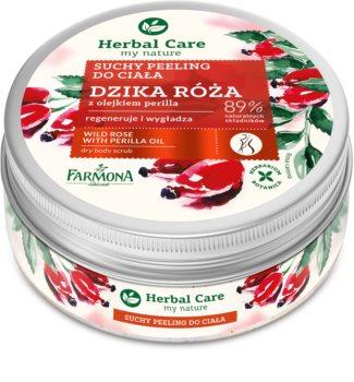 Farmona Herbal Care Wild Rose Mjukgörande kroppsskrubb med regenererande effekt