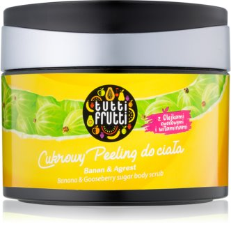 Farmona Tutti Frutti Banana & Gooseberry cukrový tělový peeling