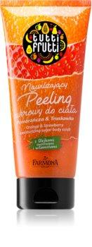 Farmona Tutti Frutti Orange & Strawberry Exfoliant hidratant din zahar cu vitamine