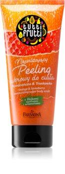 Farmona Tutti Frutti Orange & Strawberry hidratáló cukoros peeling  vitaminokkal